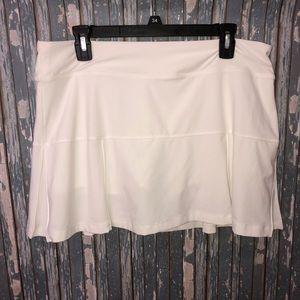 Nike Dri Fit Solid White Tennis Skirt